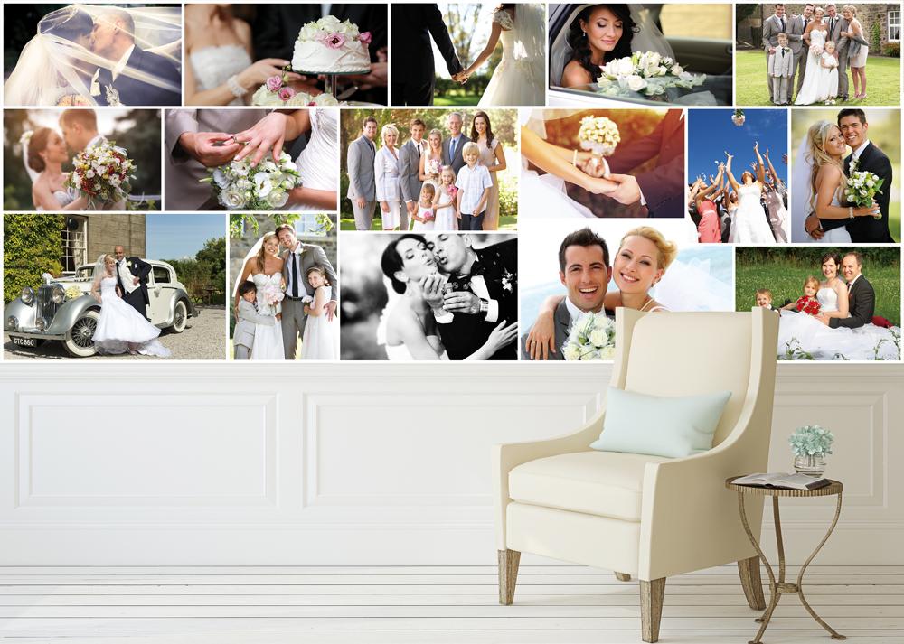 wedding collage display