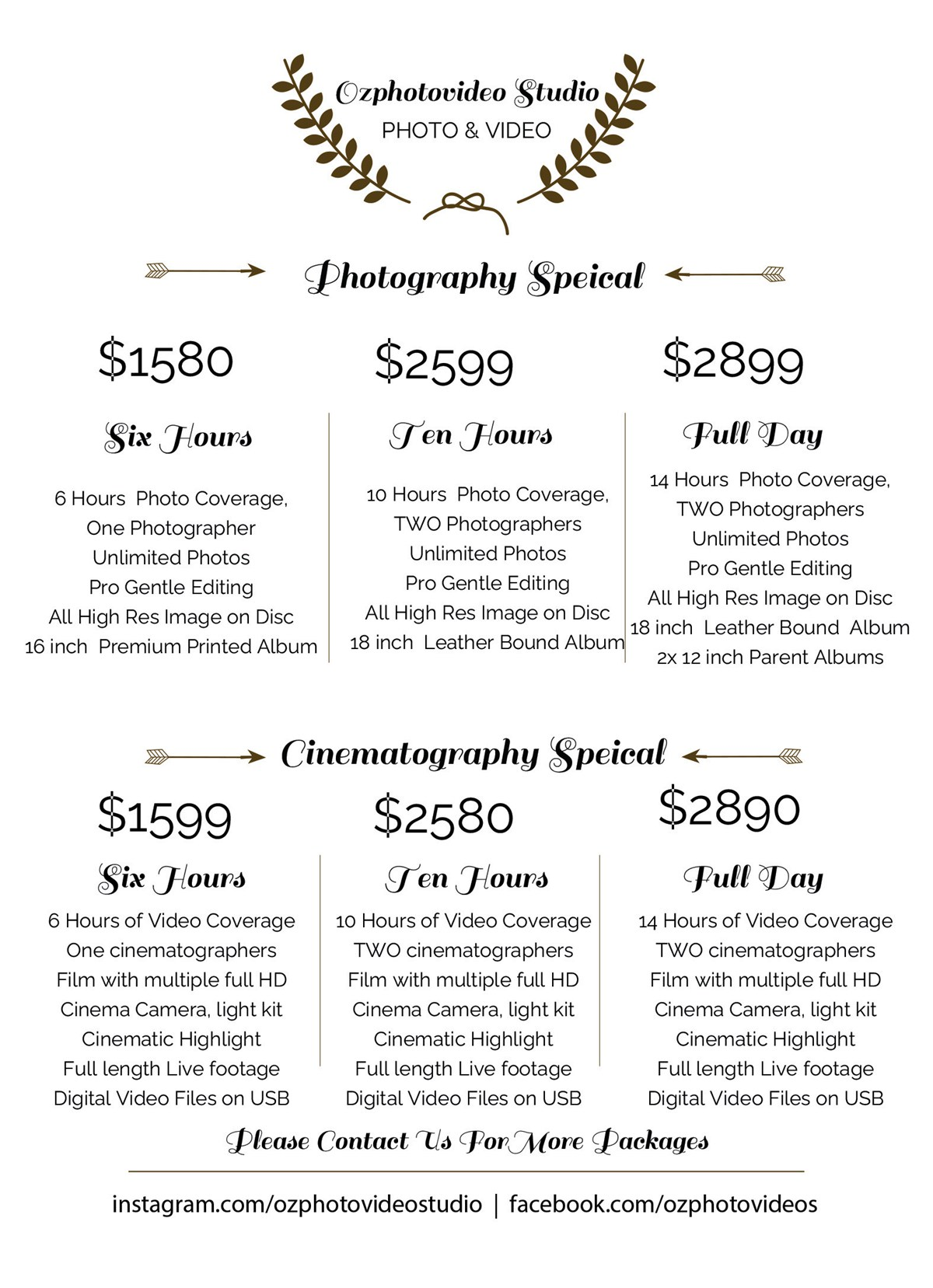 our sydney wedding photography packages
