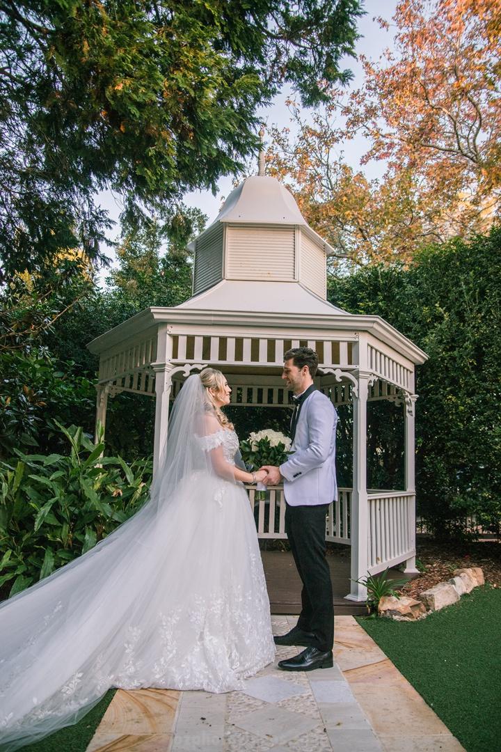 filmic wedding photo